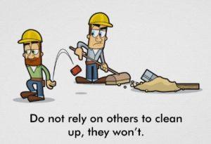 Clean workspace = Safe workplace!